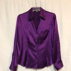 Mulberry Silk satin blouse by etcetera ... size 6